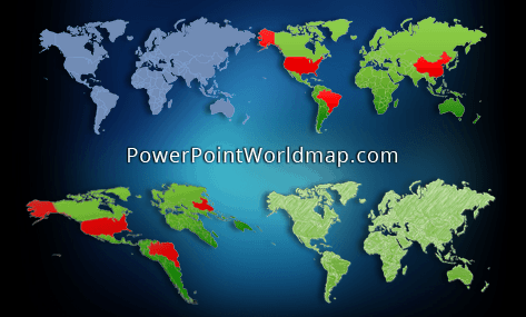 PowerPoint World Map Select Countries By Name Never Make Mistakes - World map with country names